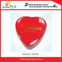 Candy And Chocolate Heart Shaped Tin