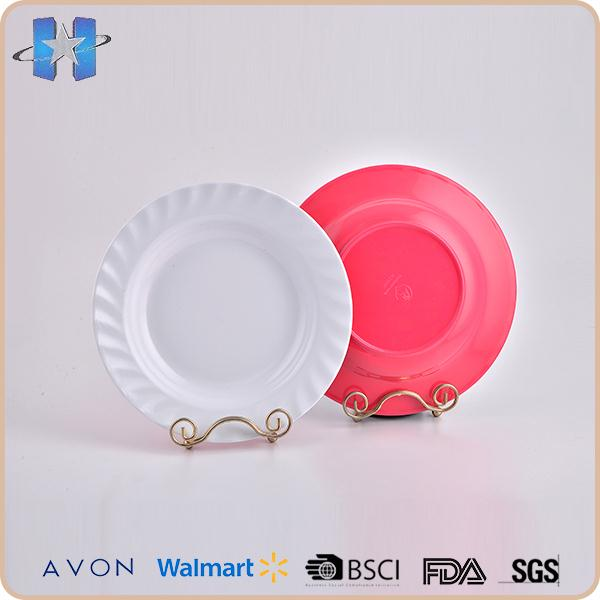 New arrival colorful round melamine plates bulk