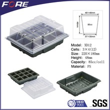 12 Cell PS Plastic Plug Seed Starting Grow Germination Tray for Greenhouse Vegetables Nursery