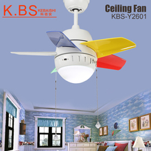 New Simple Loft Style Remote Control LED Fan Lights White Ceiling Fans With Light