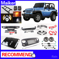 accessories Hood Front Grille front rear Bumper for jeep wrangler Jk parts body parts