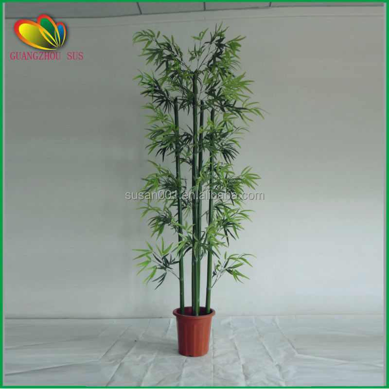Evergreen artificial bamboo poles fence