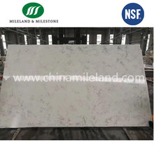 Largest Size Pink Quartz Stone Slabs For Kitchen Countertops From Quartz Stone Factory With More Than 800 Color Options