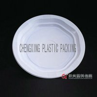 ChengXing brand wholesale food grade 8.5 inch hips pp plastic clear plates