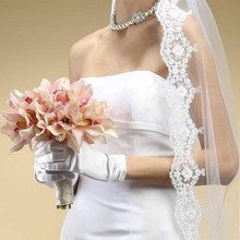 Luxury Wedding Bridal Short Satin Gloves