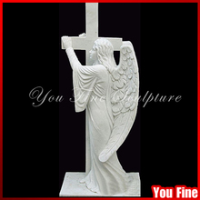 Large Decorative Marble Grave Stone Angel