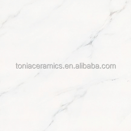 TONIA Inkjet Glazed Porcelain 600x600 Polished White Marble Tile