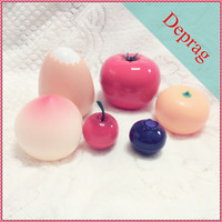 fruit shape plastic container for natural cosmetics