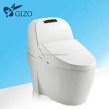 Gizo JJ-0812 Intelligent hot sale heated smart toilet with nozzle washer