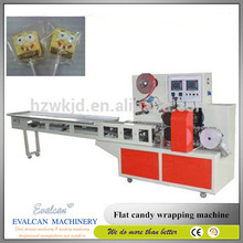 Special shape flat lollipop packing machine / wrapping machine for flat lollipop