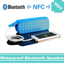 New led light wireless mini outdoor handfree NFC bluetooth speakers