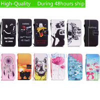 For Samsung Galaxy S4 Mini i9190 Hand rope Horizontal Flip Pattern Painted Style Leather Case with Holder Card Slots