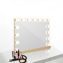 Factory wholesale Makeup Dressing Table Vanity Set Mirrors with Dimmer,Tabletop or Wall Mounted 15 bulbs mirror