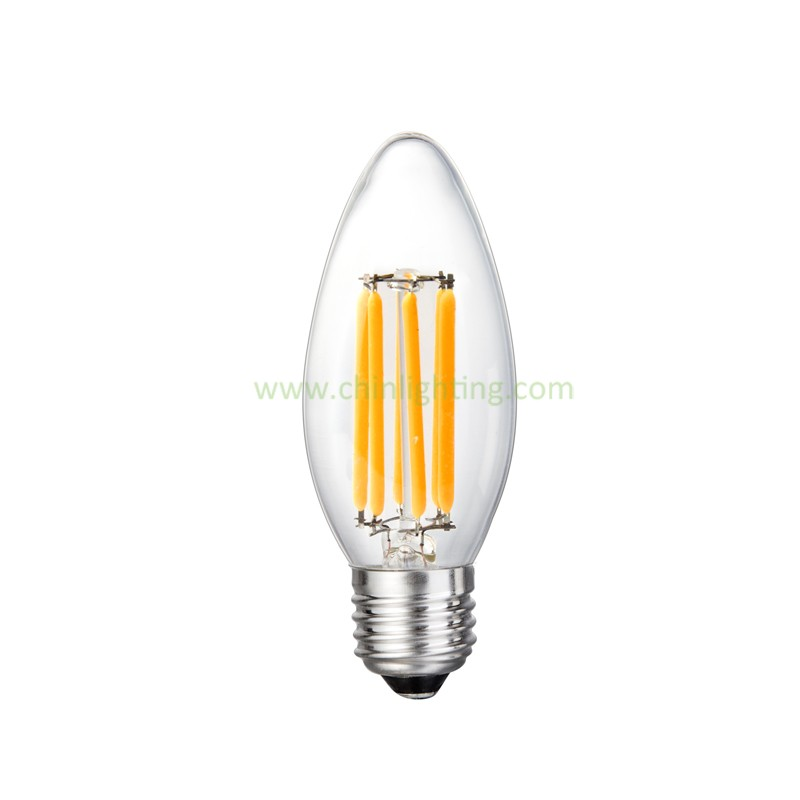 High quality C35 C32 2w 4w led filament bulb e12 base candle light bulb