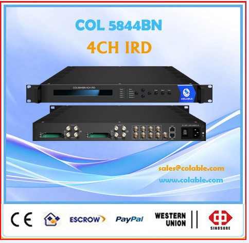 2015 most powerful iptv solution , Satellite receiver for 48 source channels, digital rf to ip Receiver.