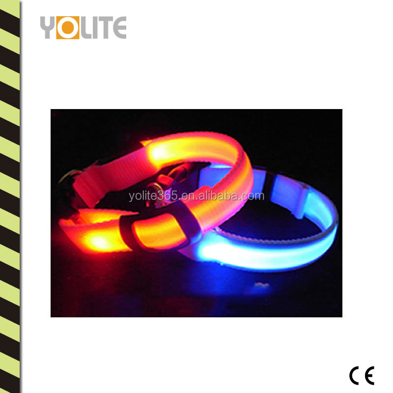 Reflective flash collar- Glow LED Collar Cat Dog Pet Flashing Light up Safety Nylon Tag