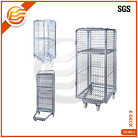 High quality ZINC galvanized steel security supermarket roll cage