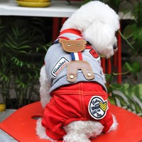 Spring Clothes for Teddy VIP Pet Dog Clothes Hot Sale High Quality Dog Harness Clothes With Bear Design