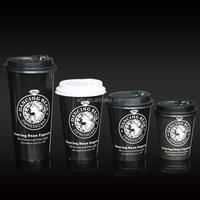 Various Size of Disposable Colorful Embossed Single Wall Paper Coffee Cups