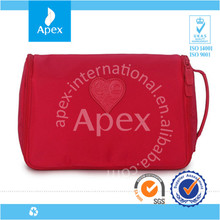 Best sale Red Nylon Waterproof travel bags with compartments