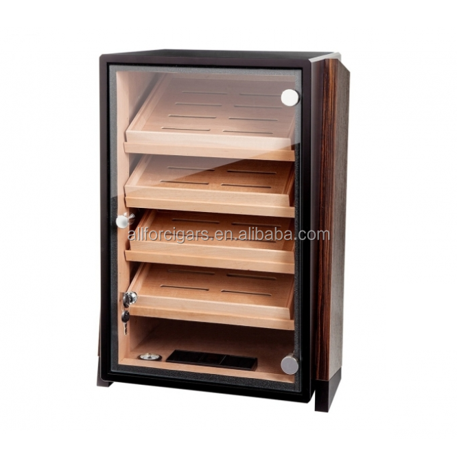 Professional Cigar Humidor Cabinet with GERMANUS Humidifier and Digital Hygrometer for ca 1200 cigars II