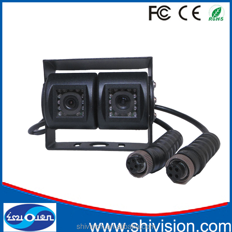"100% Factory Price 1/3"" CMOS DC12V Dual Lens Car Camera For Vehicle Rear View Security System"