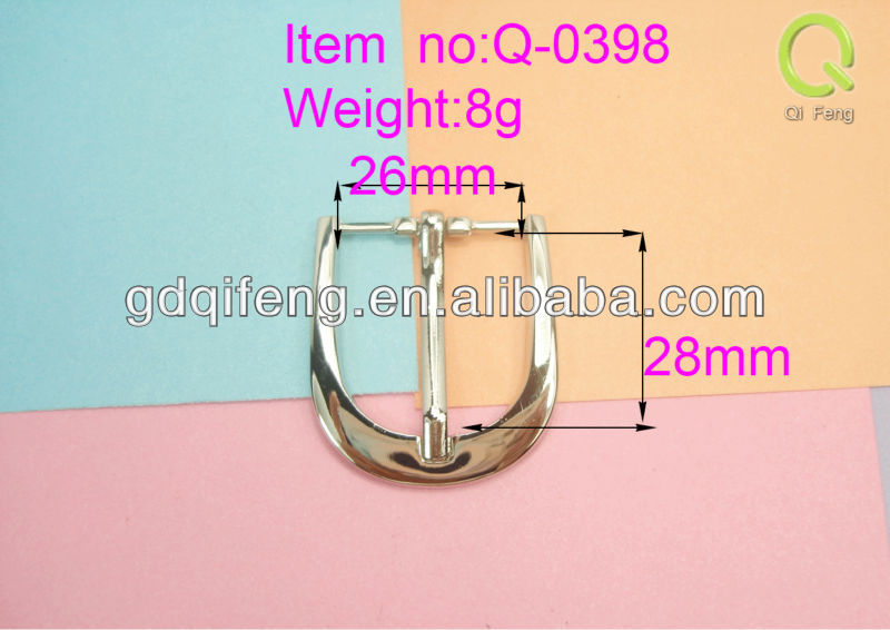 factory price metal belt buckle leather bracelet with metal buckle