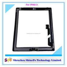 Aliexpress shop provide touch screen digitizer display colored glass for ipad 3