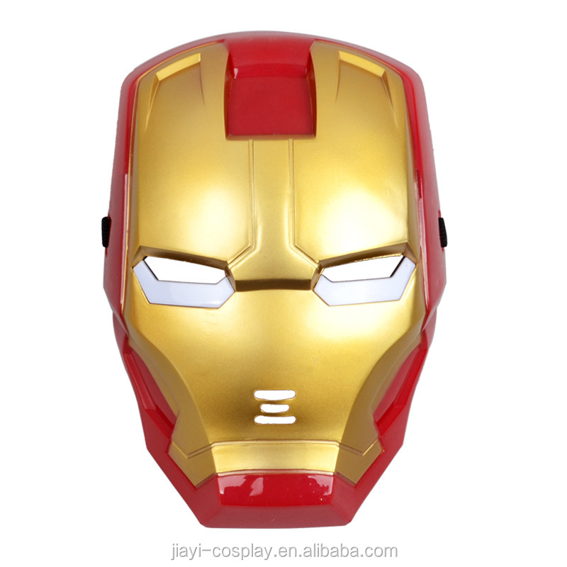 Wholesale Halloween Movie Mask PVC LED Iron Man Mask