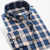 factory customized different colors mens plaid fashion casual shirts