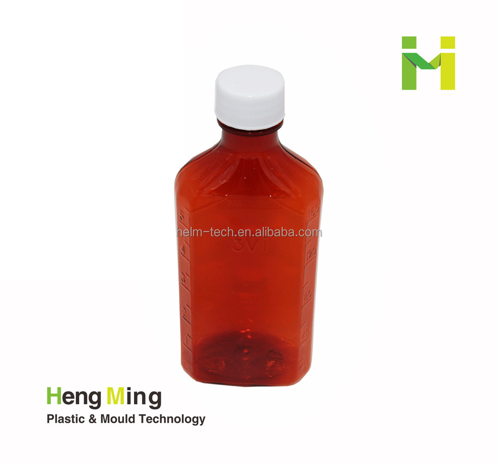 12 oz Plastic Liquid Medicine Bottle