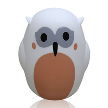 Animal shape motion sensor led night light with music