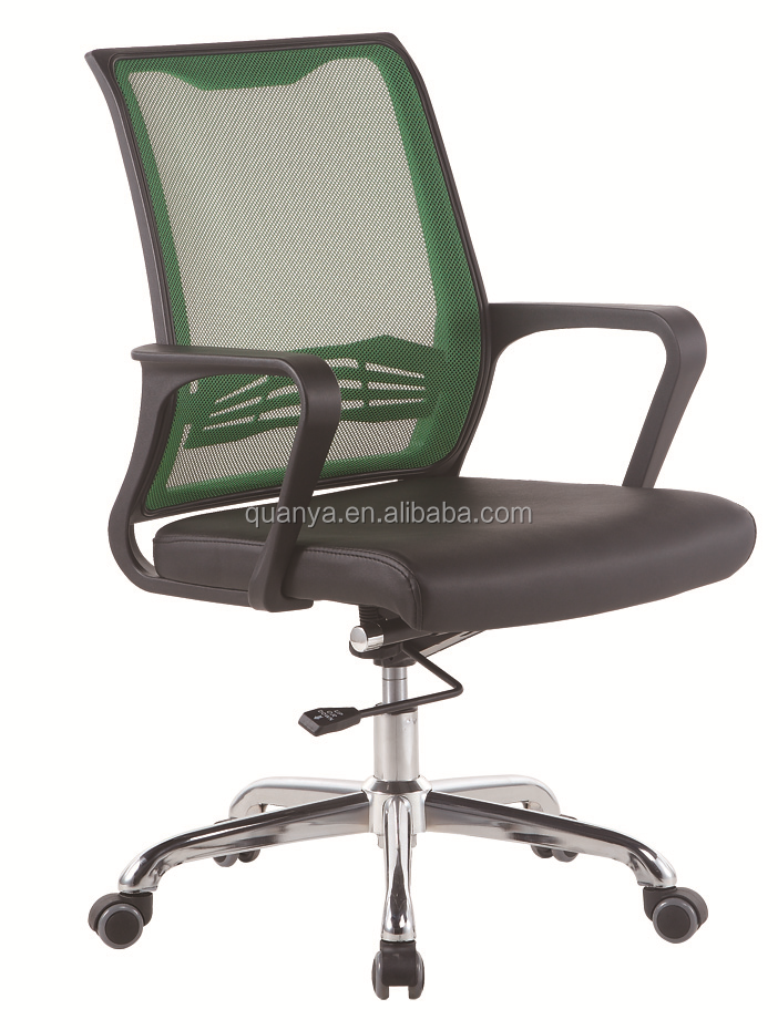 Quanya green mesh leather visitor chair cantilever chair meeting chair for office