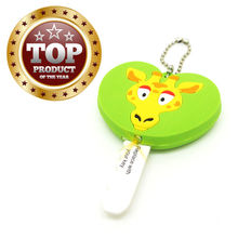ST-Newest style soft pvc key cover