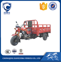 Chongqing 250cc motorized fat tire tricycle for cargo delivery with open body