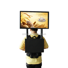 22'' 1920x1080p Human LED display plus gps navigation system walking led billboard