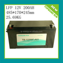 High quality 12v lithium battery 200ah LiFePO4 for energy storage/ups/solar system