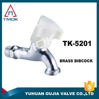 brass water bibcock TMOK tap two ways plastic handle with abs chromed plated male flow control water garden hose bibcock