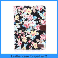 For ipad6 ipad air 2 floral print folio standing tablet case