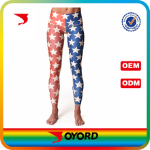 Designers custom stylish USA flag yoga pants