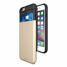 wholesale slide cover card slot holder case for iphone 6 , kickstand phone case for iphone 6