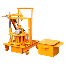 YLF40-3C manual mobile concrete block making machine