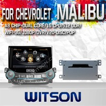 WITSON FOR CHEVROLET MALIBU DASH BOARD CAR DVD WITH BLUETOOTH GPS 1.6GHZ FREQUENCY STEERING WHEEL SUPPORT RDS
