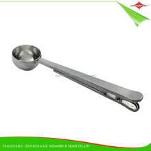 ZY-F1024 Hot-sale Stainless Steel Coffee Tea Measuring Spoon with Clip