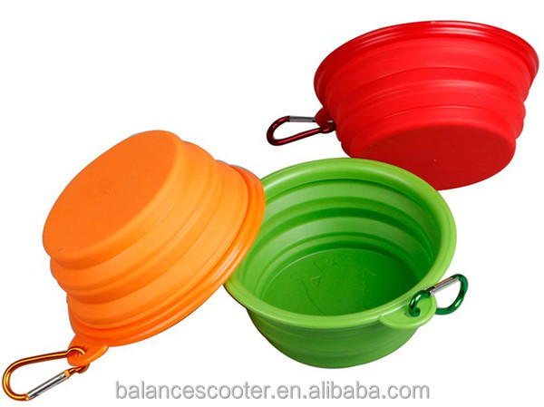 Pet Accessories 100% Food Grade Harmless Non-Stick Pet Dishes Dog Bowl Collapsible