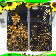 Wash gold Lovely Soft TPU IMD cell phone flashing case