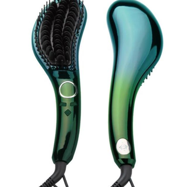 Electric LED Digital Anti Static Ceramic iron Hair Straightener brush for Hair Straightening and curling