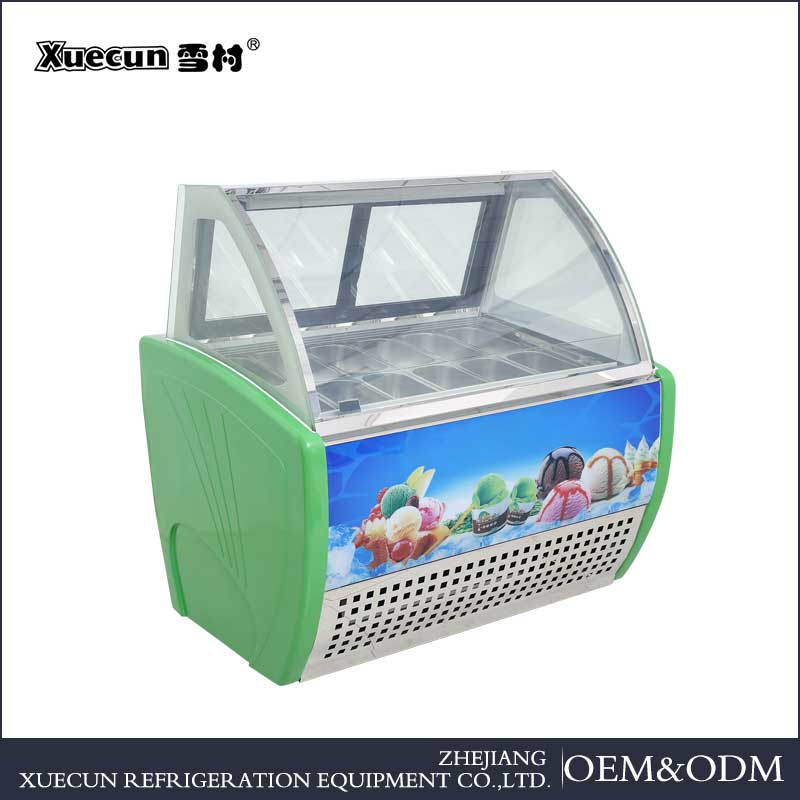 Hot Sale Table Top Ice cream cooler