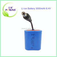 Energy storage 6.4v 3000mah rechargeable lifepo4 battery pack