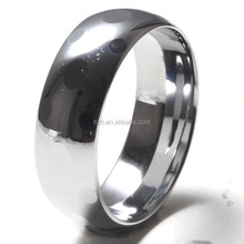 custom jewelry wholesale e 8MM dome Steel rings